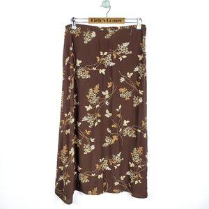 MDL VTG Brown Floral Skirt